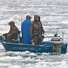 Fisherman brave the harsh elements