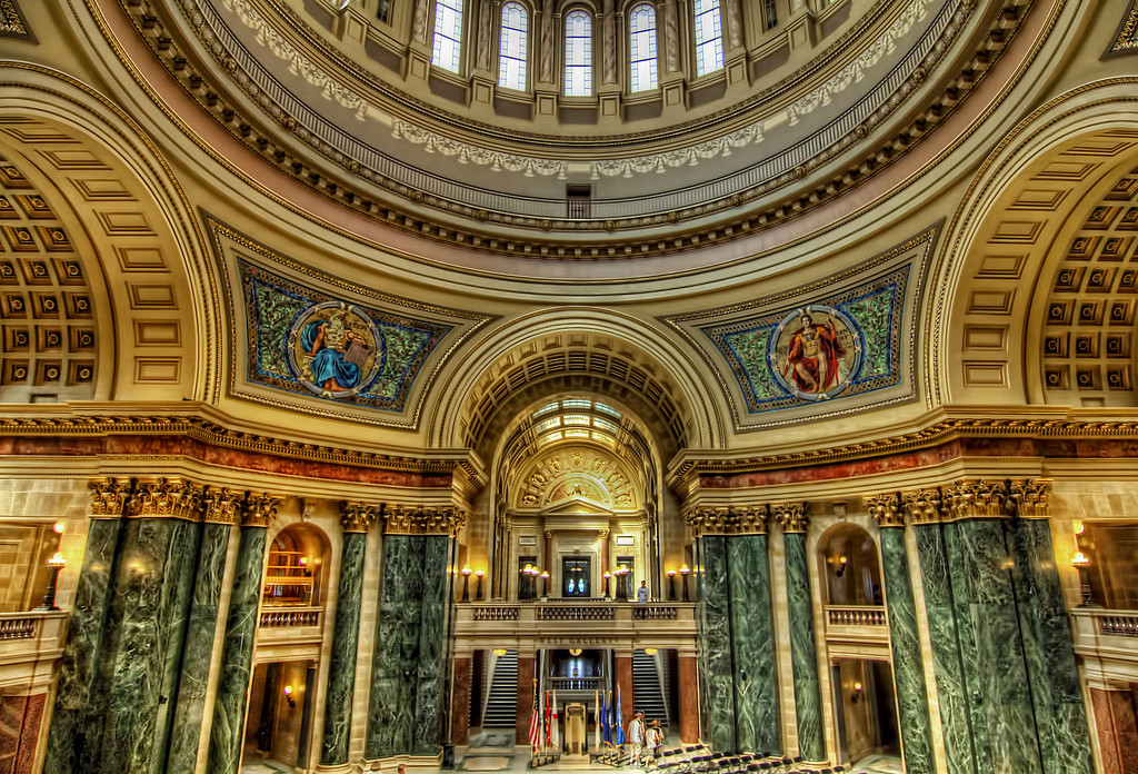 Capital rotunda, Madison Wisconsin.