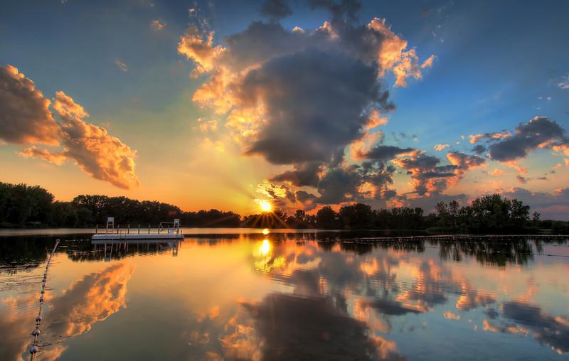 Foxbrook Lake, Brookfield Wisconsin.