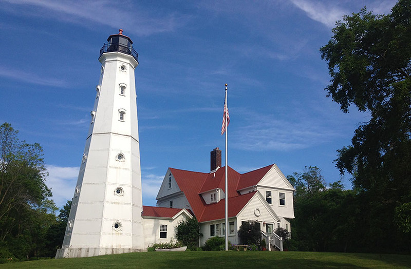 NPLH is the only lighthouse in the US built from 3 lighthouses. The lantern room is from the original 1855 LH that stood 1000 ft from the existing one. The 1888 section and the 1912 section. In 1912 the tower was raised to clear the tree line.