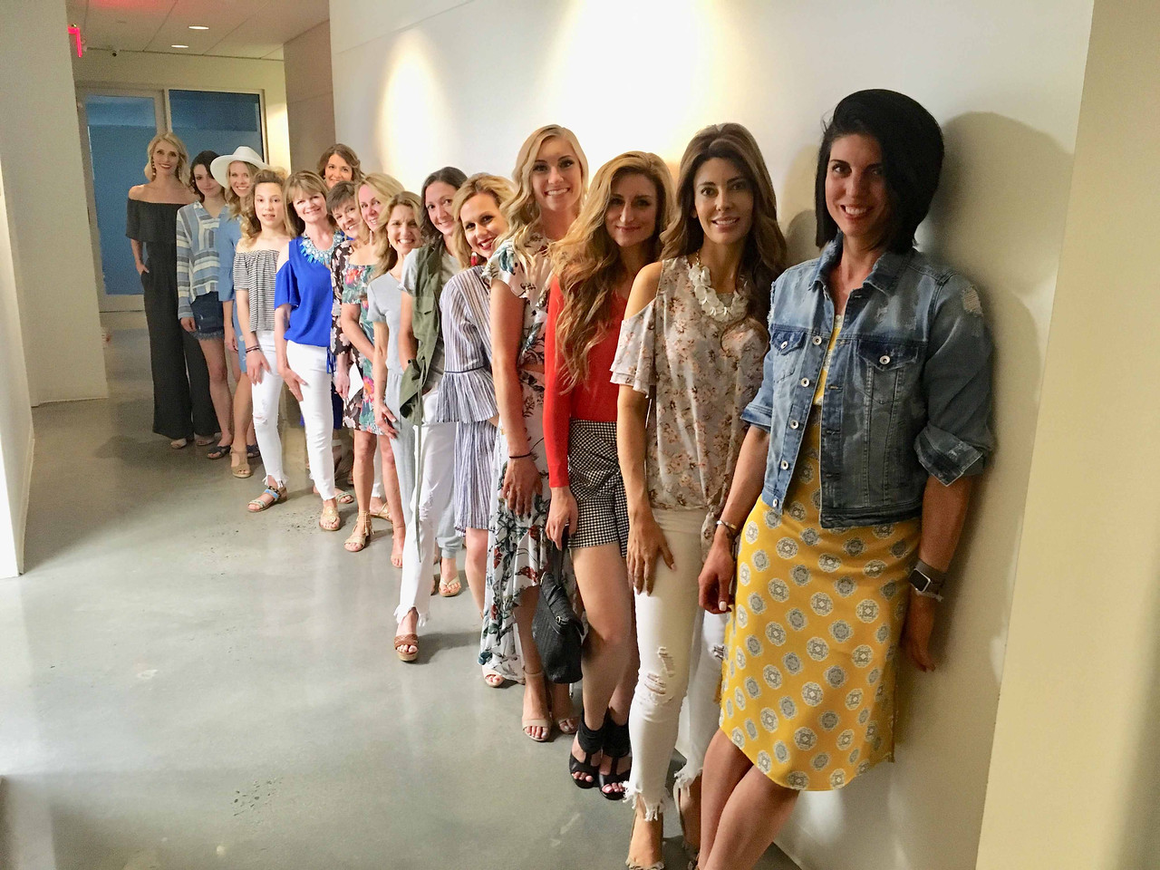 Wish owner Kate Thoene, far left, with the starlet models