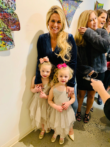 Ally Bartolini of Chelmsford with daughters, Charlotte and Violet