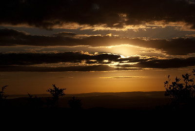 Sun Rising Amid Morning Clouds
