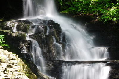 Waterfall Deep in the Forest