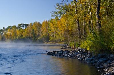 Morning Mist on the Autumn River