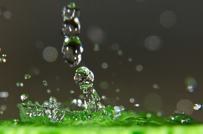 Two Flashes Water Splash Green