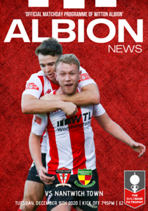 Copy of WITTON ALBION PROGRAMME COVER -  WHITBY TOWN