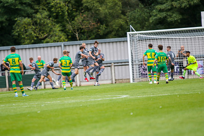 Free Kick taken by Runcorn after a Witton Albion backpass