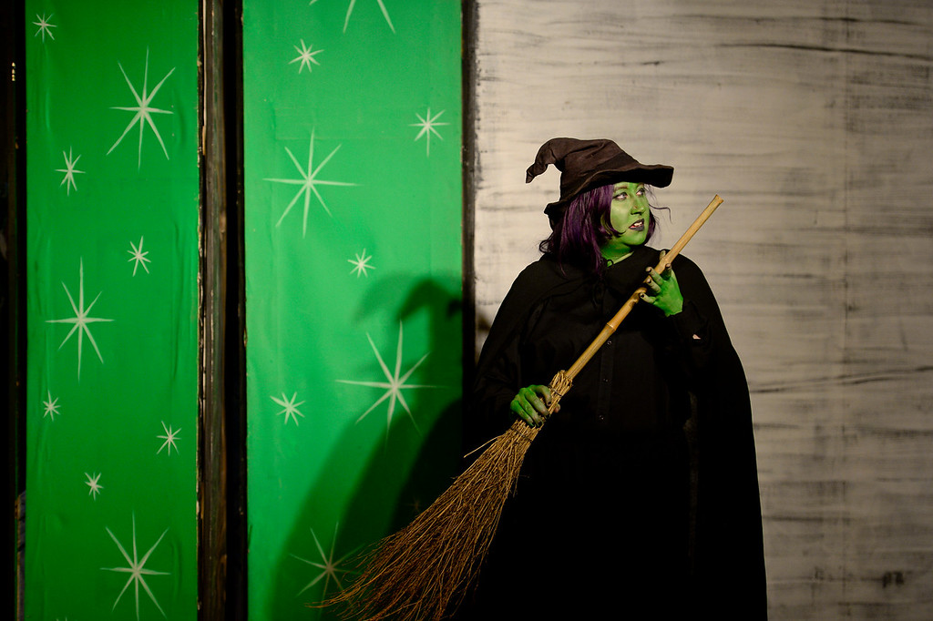 . LONGMONT, CO - APRIL 16:Jesi Hitch, as The Wicked Witch of the West, during a rehearsal for Wizard of Oz at Jesters Dinner Theater in Longmont on April 16, 2019. (Photo by Matthew Jonas/Staff Photographer)