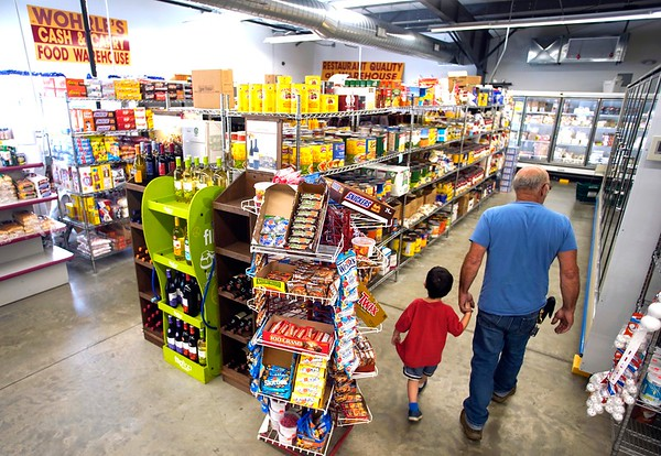 A gentleman and his grandson wander the aisles at Wohrle's Foods in Pittsfield.<br /> Wednesday, July 28, 2021. BEN GARVER — THE BERKSHIRE EAGLE
