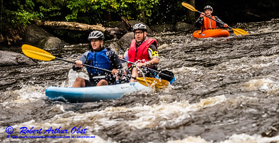 """WRR-AE (Langlade County) """"Wolfman Triathlon"""" 2016 by Robert A. Obst 3 STARS HIGH RES (USA WI Langlade-White Lake Wolfman Triathlon) COMPETITORS within the wild Wolf River-Section 2's Sherry Rapids DSC_6650"""