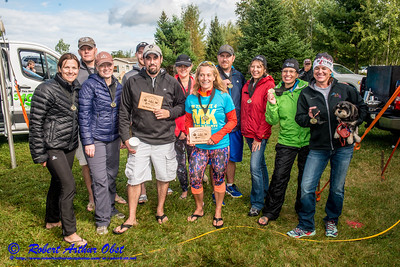 """WRR-AE """"WOLFMAN TRIATHLON 2016 """" Image by Robert A. Obst FAV 4 STARS HIGH RES (USA WI Langlade-White Lake Wolfman Triathlon) - Celebrations Dinner & AWARDS Ceremony at Bear Paw OAR:  CONGRATS for-to Northwoods of WI 2016 TRI MASTERS' SERIES WARD-WINNERS """" AWARDS TEAM NAMES?  """" BY WT Race Director Karen Steckbauer McCabe & STAFF DSC_1997"""