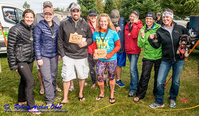 """WRR-AE """"WOLFMAN TRIATHLON (WT) 2016"""" IMAGE BY Robert Obst FAV 4 STARS (USA WI Langlade-White Lake Wolfman Triathlon) - Celebrations Dinner & AWARDS Ceremony at Bear Paw OAR:  CONGRATS for-to Northwoods of WI 2016 TRI MASTERS' SERIES WARD-WINNERS """" AWARDS TEAM NAMES?  """" BY WT Race Director Karen Steckbauer McCabe & STAFF DSC_1994"""