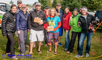 """WRR-AE """"WOLFMAN TRIATHLON 2016 """" Image by Robert A. Obst FAV 4 STARS HIGH RES (USA WI Langlade-White Lake Wolfman Triathlon) - Celebrations Dinner & AWARDS Ceremony at Bear Paw OAR:  CONGRATS for-to Northwoods of WI 2016 TRI MASTERS' SERIES WARD-WINNERS """" AWARDS TEAM NAMES?  """" BY WT Race Director Karen Steckbauer McCabe & STAFF DSC_1995"""
