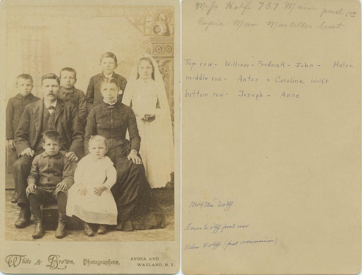 Anton and Caroline Wolff Family