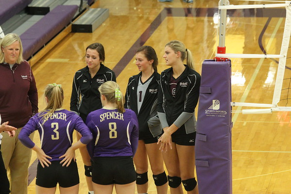 Wolfpack volleyball at Spencer High School 10-11-16