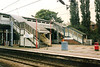 The old footbridge spanning platforms one and two is seen on 21 October 1991. She would be gone by the end of March 1992.