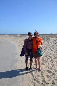 Candace Shepard and Julie Lynn Baugh on Venice Beach, CA