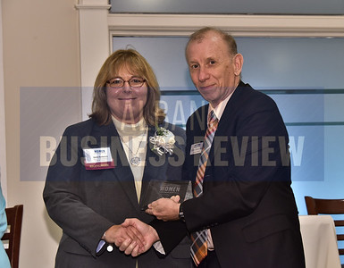 Sheila Barkevich, senior vice president of Callanan Industries and ABR editor MIke Hendricks