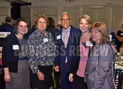 Tracy Bullett from Tabner, Ryan & Keniry; Joan Heffler from Joan Heffler Photography; Steve Janack, honoree Miriam Dushane and Denise Horan from Integrated Management & Sales Consulting.