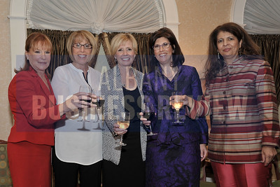 10-4-2013, Women Who Mean Business,  Denise Gonick, MVP HealthCare; Nina Tyzik, First Niagara Bank; Marcia White, Saratoga Performing Arts Center; Linda Hillman, Rensselaer County Chamber of Commerce; Penelope Andrews, Albany Law School;   moderator, Trudy Hall, Head of School, Emma Willard