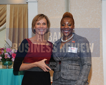 Publisher Carolyn Jones and honoree Daquetta Jones, executive director of the YWCA of the Greater Capital Region.