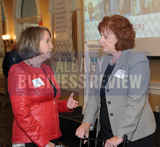 Rensselaer County Executive Kathy Jimino and Denise Sheehan of Capitol Hill Management Services.