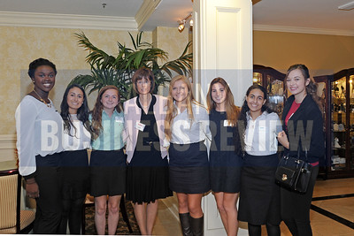 Honoree Trudy Hall, Head of School at Emma Willard, with Emma students.