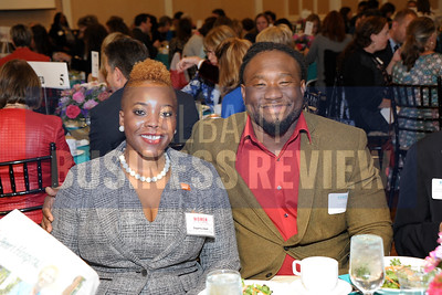 Honoree Daquetta Jones, executive director of the YWCA of the Greater Capital District and David Davis.