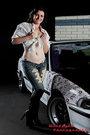 Kahla Shae Car Mag Shoot