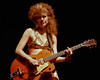 Poison Ivy performs with The Cramps at the Warfield Theater in June 1990.