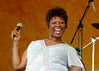 Irma Thomas perfoming at the New Orleans Jazz & Heritage Festival on May 7, 2006.