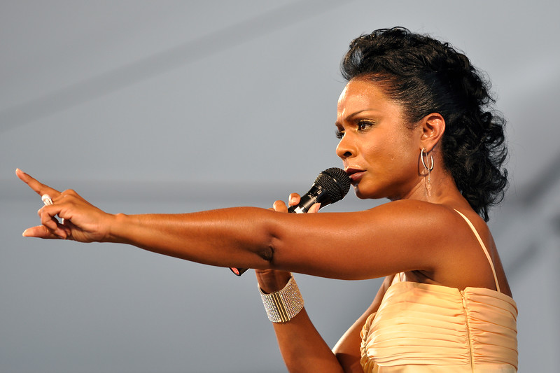 Stephanie Jordan performing at the New Orleans Jazz & Heritage Festival on April 25, 2009.