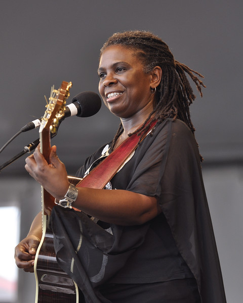 NEW ORLEANS, LA-MAY 2: Blues/gospel singer Ruthie Foster performs at the New Orleans Jazz & Heritage Festival on May 2, 2010. (Photo by Clayton Call/Redferns)