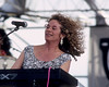 Carole King performing live on stage at the New Orleans Jazz & Heritage Festival on May 3, 1992.