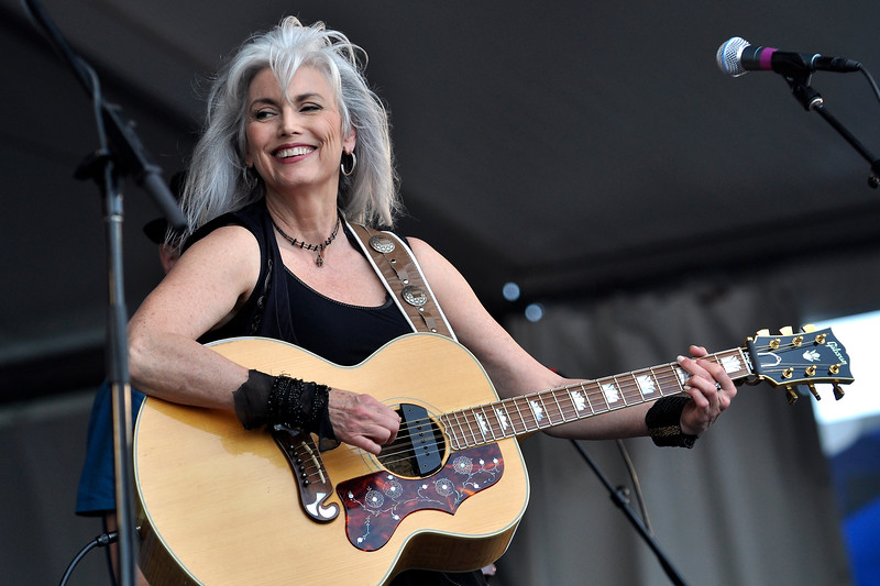 Emmylou Harris performing at the New Orleans Jazz & Heritage Festival on April 30, 2009.
