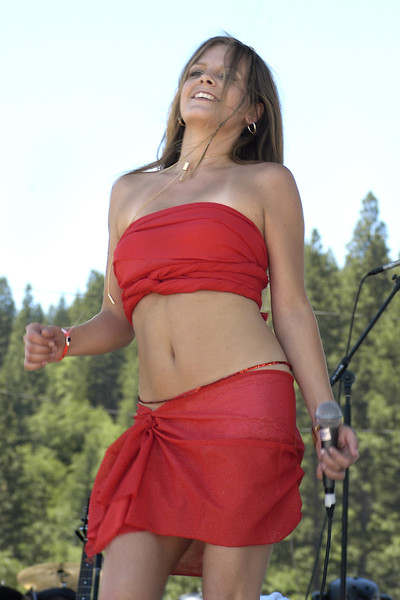 Theresa Andersson perfoms live at the High Sierra Music Festival in  Quincy, CA on July 4, 2003.