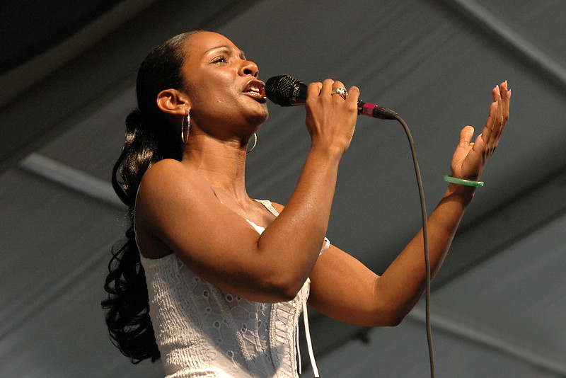 Stephanie Jordan performs at the New Orleans Jazz & Heritage Festival on May 5, 2006.