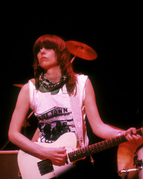 Chrissie Hynde performing with the Pretenders at the Warfield Theater in San Francisco on April 16, 1980.