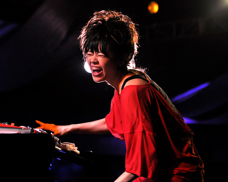MONTEREY, CA-SEPTEMBER 16: Hiromi performs at the Monterey Jazz Festival in Monterey, CA on September 16, 2011. (Photo by Clayton Call/Redferns)