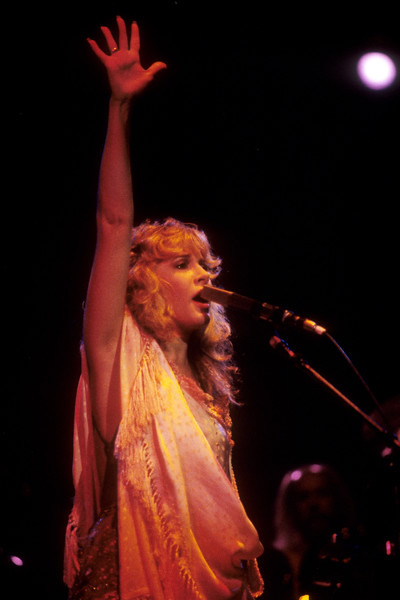Stevie Nicks performing at the Oakland Coliseum on December 3, 1981.