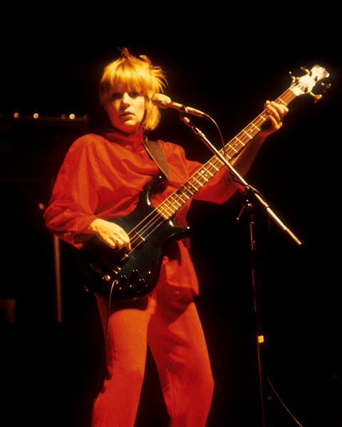 Tina Weymouth performing with Talking Heads at the San Francisco Civic Center on August 9, 1982.