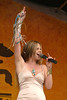 Theresa Andersson performs live at the New Orleans Jazz & Heritage Festival on April 23, 2004.
