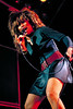 Tina Turner performing at the Oakland Coliseum on December 12, 1987.