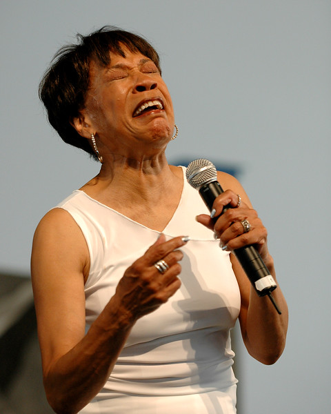 Bettye LaVette performing on stage at the New Orleans Jazz & Heritage Festival on May 1, 2008.