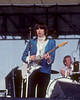 Chrissie Hynde and Martin Chambers performing with the Pretenders at the Heatwave Festival at Mosport Park near Toronto on August 23, 1980.
