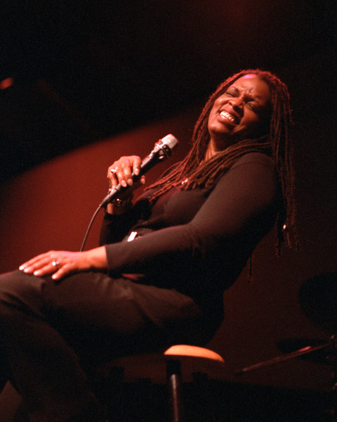 Dianne Reeves performs at Kimball's East in Emeryville, CA in 1992.