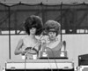 The B-52's perform at the Heatwave Festival at Mosport Park near Toronto on August 23, 1980.