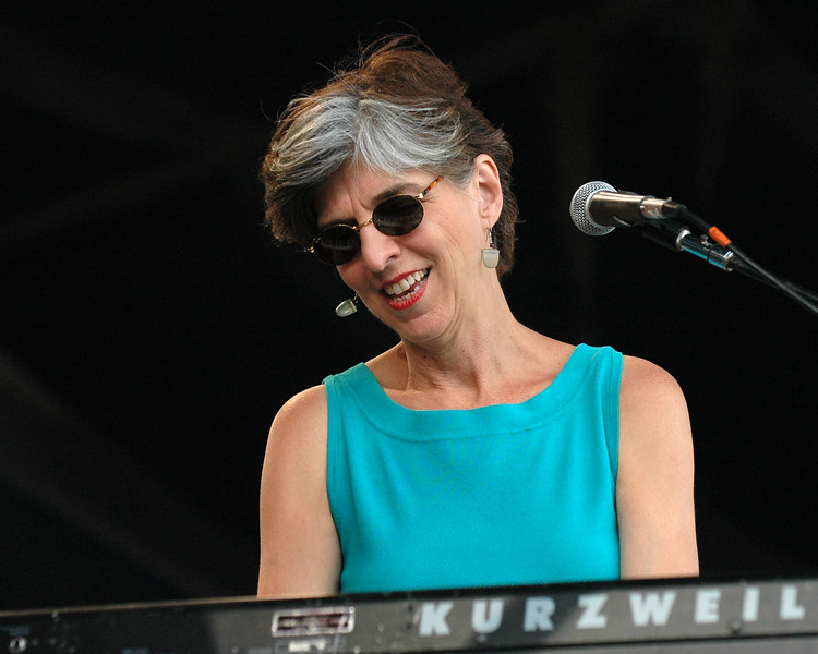 Marcia Ball performs at the New Orleans Jazz & Heritage Festival on April 29, 2005.
