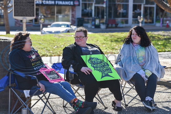Tyler residents brought chairs and signs to the Downtown Square on Sunday, January 19 for the city's first ever Women's March. The event was hosted by the Democratic Club of Smith County. (Jessica T. Payne/Tyler Morning Telegraph)
